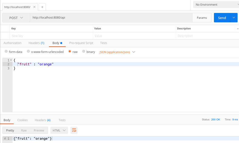 JSON POST request in Postman