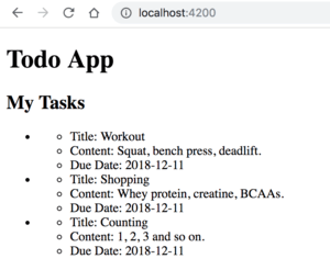 Angular Dummy Tasks from API